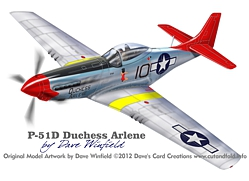 P51D Duchesss Arlene Model Artwork