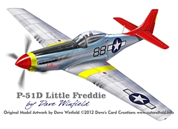 P51D Little Freddie Model Artwork
