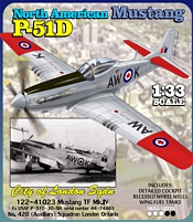 RCAF P-51D Mk IV Mustang City of London  Printed Paper Model