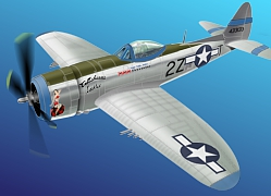 Tallahassee Lassie P47D Thunderbolt Paper Model