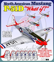 P-51D Mustang Thunderbirds  Printed Paper Model