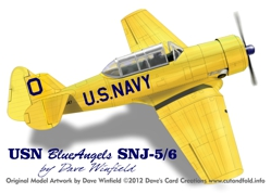 Texan Blue Angels SNJ artwork
