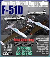 F51  CAVALIER MUSTANG P51 CHASE PLANES