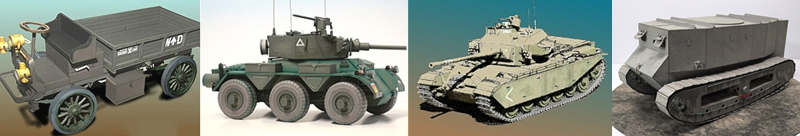 military vehicles paper models