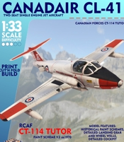 RCAF CT-113 Tutor Trainer  Printed Paper Model