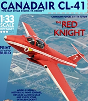 RCAF Red Knight CT-113 Tutor  Printed Paper Model