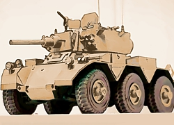 Saladin 1/16 scale Armored Car Paper Model