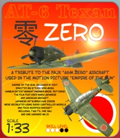 1-33 AT6 Texan Empire of the Sun Zero paper model